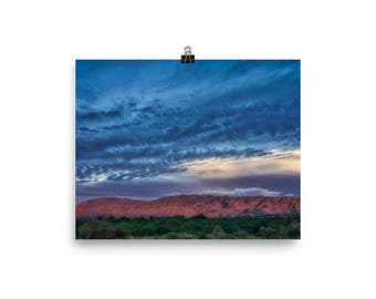 Rincon Mountains, Late Afternoon, Tucson Arizona, Photo paper poster