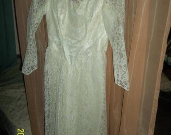 vintage angelair tea length  wedding dress size 16