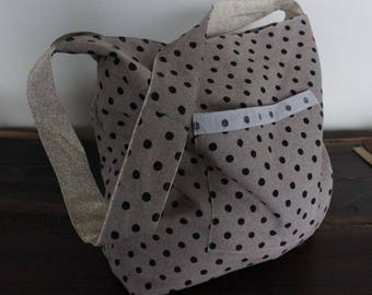 Market Bag with polk a dots