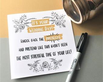 Funny Wedding Card, Wedding Card, Prosecco Card, Prosecco Wedding Card, On Your Wedding Day Card, Rude Wedding Card, Congrats Wedding Card