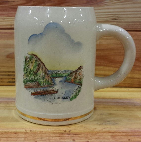 German Beer Stein Loreley 16 oz