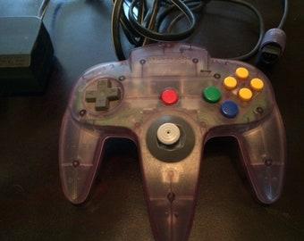 1 Purple Original Nintendo 64 Controller!!