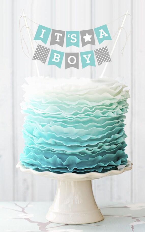 Boy Baby Shower Cake Topper Its A Boy Cake Topper Baby