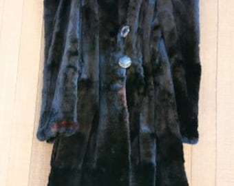 Beautiful, GLISTENING, full-length vintage beaver fur coat