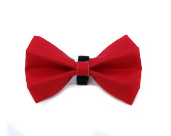Bow Tie for Dog Collar Red