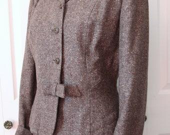 1940s Steiger's Light Brown Day Suit Large