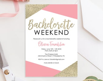 Bachelorette Itinerary Template Etsy - Party invitation template: bachelorette party itinerary template