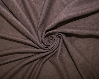 Brown-B Stretch Suede Fabric by the yard - 1 Yard Style 598