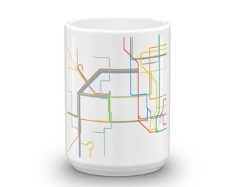 New York & New Jersey Rails Mug made in the USA
