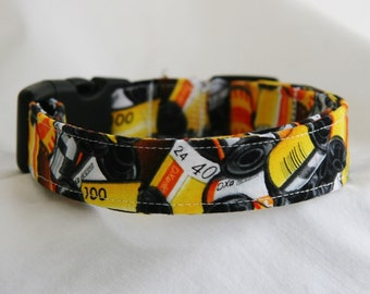 Dog Collar- Roll Film Canisters- Negative- Slide Film- Adjustable Dog- Pet Collar 1 inch -1.5 inch -2 inch Width