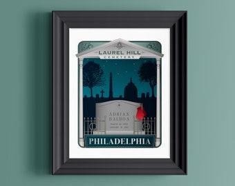 Rocky Balboa | Cemetery art | Gothic home decor | Philadelphia art | Graveyard art | Laurel Hill Cemetery | Mausoleum art | Philly gift
