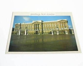 London England Vintage Postcard, Buckingham Palace, Great Britain Souvenir, United Kingdom UK, Post Card PC A12, Thomas and Benacci
