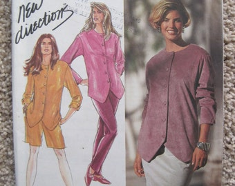 UNCUT Misses Pants or Shorts, Skirt and Top - Size 10, 12, 14, 16, 18 - Simplicity Pattern 7445 - Vintage 1991