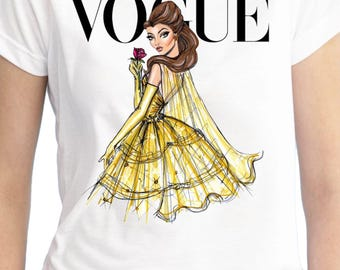 Belle Vogue Shirt/Belle Shirt/Beauty and the Beast Shirt/Belle Birthday Shirt/Belle Stickers/Vogue Shirt/Disney vogue Shirt/Belle Banner/Bel