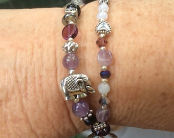 Amethyst and elephants
