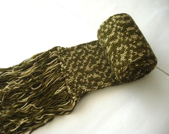 knitted scarf in green colors Knitted long Mens Scarves, Chunky scarf men, grey gray crochet scarf, knit scarf, mens scarf fathers day