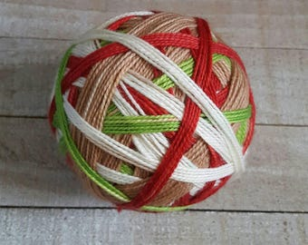 DYED TO ORDER: Hand Dyed, Self Striping Sock Yarn ~ Gingerbread Man