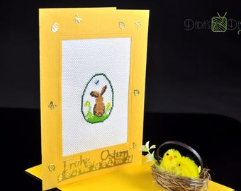 Embroidered Easter card