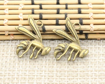 Fly pendant 20pcs 23*18mm antique bronze housefly jewelry charms