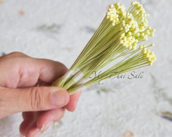 250 Heads Big round shape Flower Stamens on wire