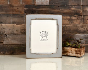 8x10 Picture Frame with Super Vintage Silver Finish in Cortez Style - IN STOCK - Same Day Shipping - 8 x 10 Metallic Photo Frame