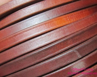 Genuine Licorice leather cord ancient color 10x6mm licorice leather