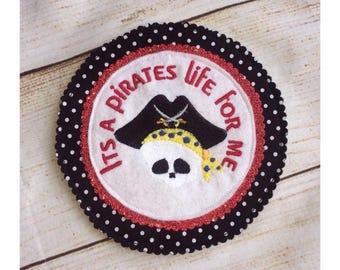 Pirate Birthday Badge, Giant Birthday Badge, Pirate Party Badge