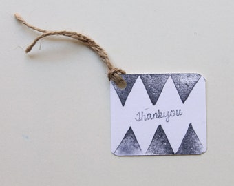 BOHO TRIBAL pow wow, wild one theme favour tags, gift tags, thank you tags, favour bag tags X 10