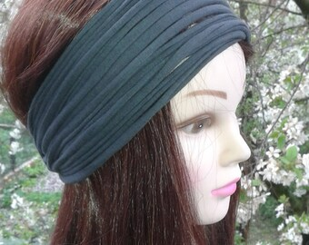 Dark Gray Womans Headband Hair Accessories  for girls Yoga Headband Hippie Beach Head Wrap Dreadlock Headband  Hair Accessories