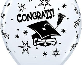 Graduation latex balloon pk of 6 , graduation celebration, graduation party, class of 2018