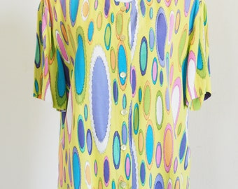 Funny Betty Barclay 80's blouse Size M / 38 green