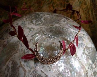 Elven Crown - Woodland Tiara - Goddess Headpiece - Moon Circlet - Fall Tiara