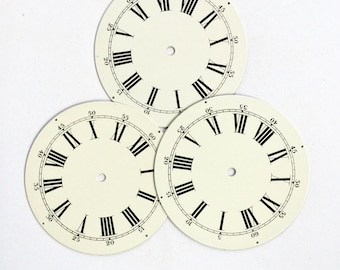 Vintage Clock Face Roman Numeral Enamel Farmhouse Antique