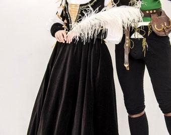 Borgia Renaissance gown Italian fashion. Medieval velvet dress. 15th century women dress Lucrezia Borgia style !!!ONLY TO ORDER!!!