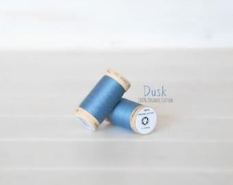 Organic Cotton Thread GOTS - 300 Yards Wooden Spool  - Thread Color Dusk - No. 4816 - Eco Friendly Thread - 100% Organic Cotton Thread