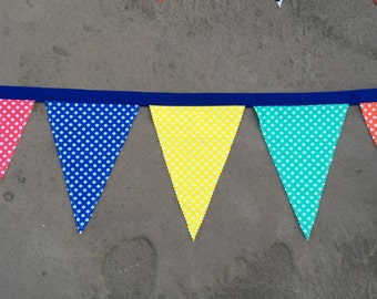 Fabric Banner - Polka Dots