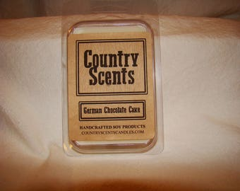 German Chocolate Cake Soy Wax Melt ~ 2.5oz ~ 100% soy wax ~ Country Scent Candles