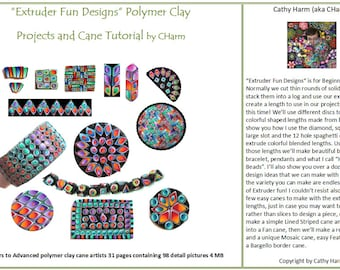 Extruder Fun Designs polymer clay tutorial by CHarm