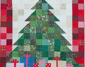 Quilted Christmas Tree Quilt