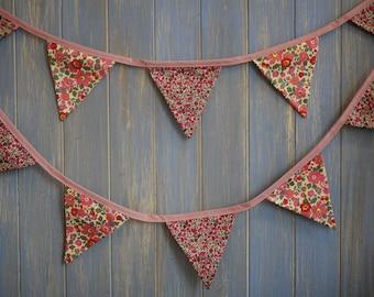 Liberty Prints Bunting. Liberty Fabric // Designer Bunting // Floral Bunting // Wedding Decor // Wedding Bunting // Liberty Decor.