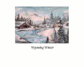 Wyoming Winter   Giclee Fine Art Print By Wyoming Artist Joyce Lee