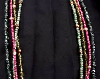 Four Strand Seed Bead Necklace