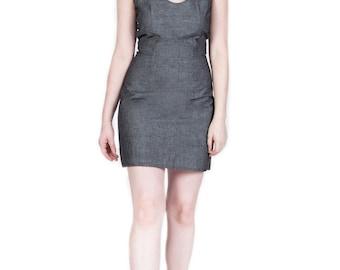 Dark Denim Sheath Dress