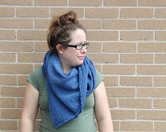 blueberry - lightweight organic cotton gauze scarf