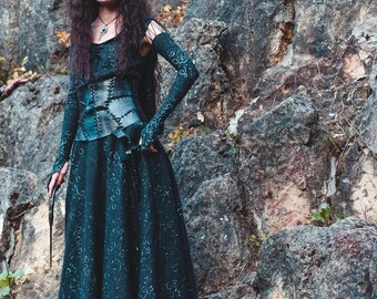 Custom made Bellatrix Lestrange cosplay costume dress corset, Harry Potter