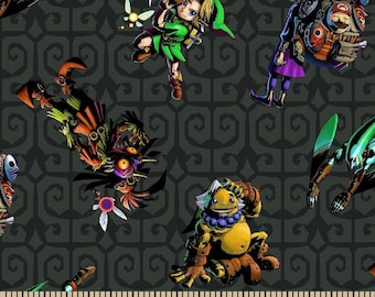 Legend of Zelda ~ Zelda & Friends Cotton Fabric by the yard and by the half yard