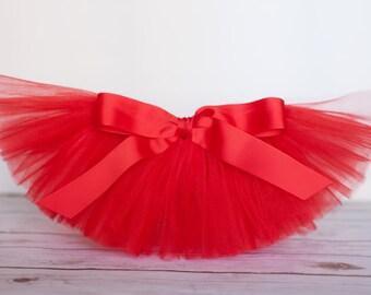 """Red tutu """"Debra"""" Valentine's day Tutu girls tutu girls Christmas tutu skirt birthday tutu skirt photo prop holiday tutu size 5 6 7 8 10 12"""