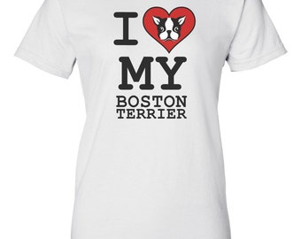 I Love My Boston Terrier Shirt