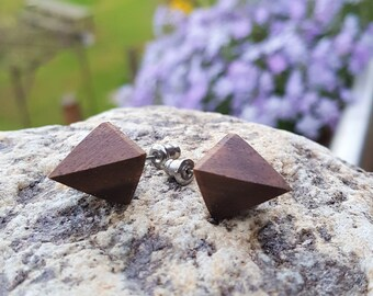 Walnut earrings for you and him