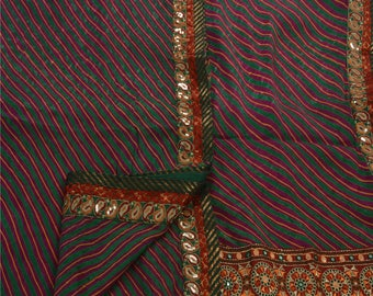 KK Saree Silk Blend Hand Embroidered Fabric Premium Leheria Cultural Sari